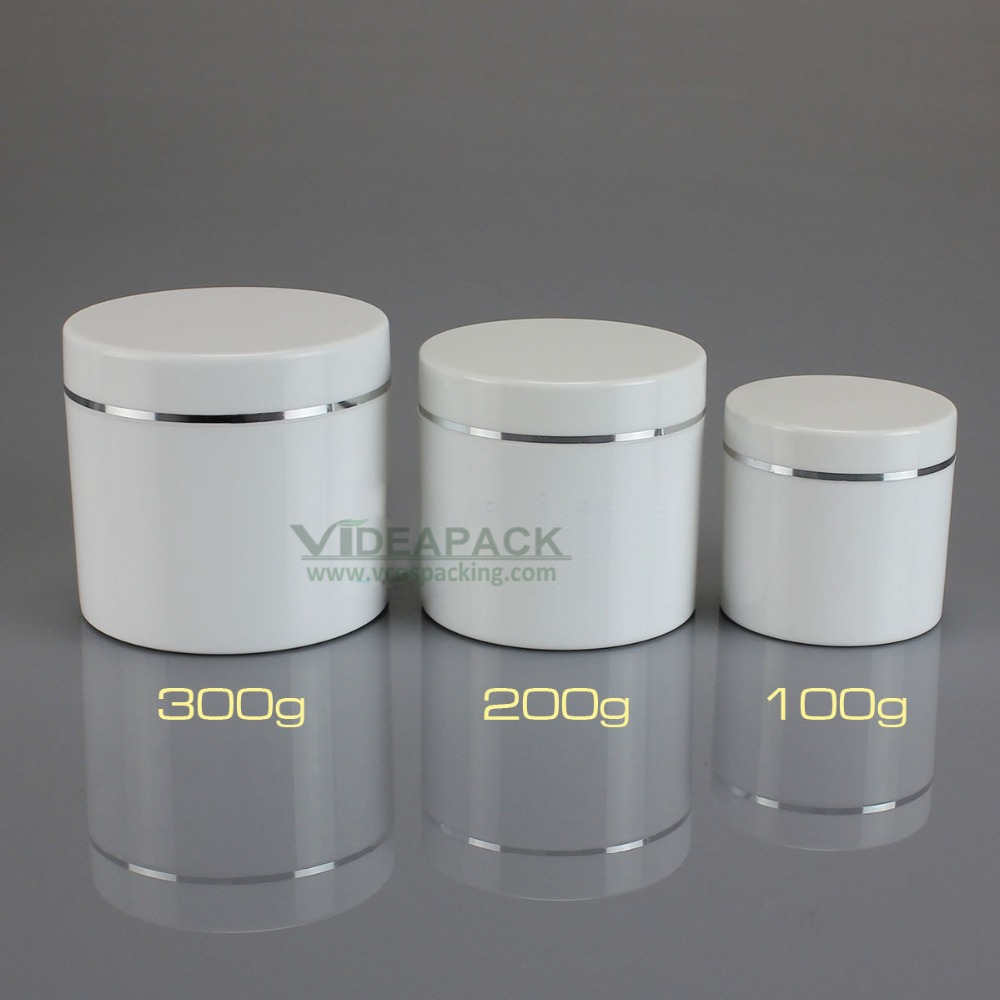 15 pcs lot cosmetic jar 200g 200ml white empty jar with cosmetics packaging
