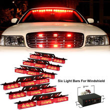 Rot 54 LED Auto LKW Fahrzeug Polizei Grill Strobe Lichter Bars