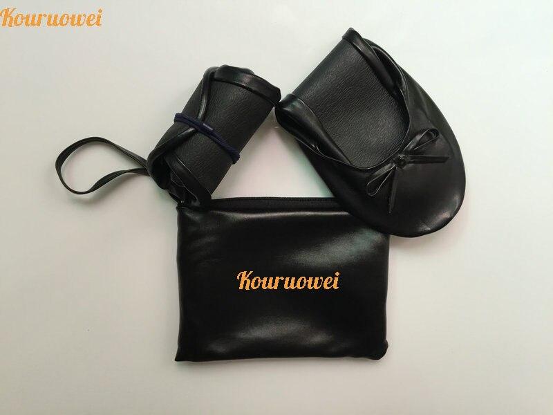 Bolso No Doblar Negro Bailarina Fácil La Con El Tejido Envío Embalaje Llevar Personalizado Libre qvFUz6B