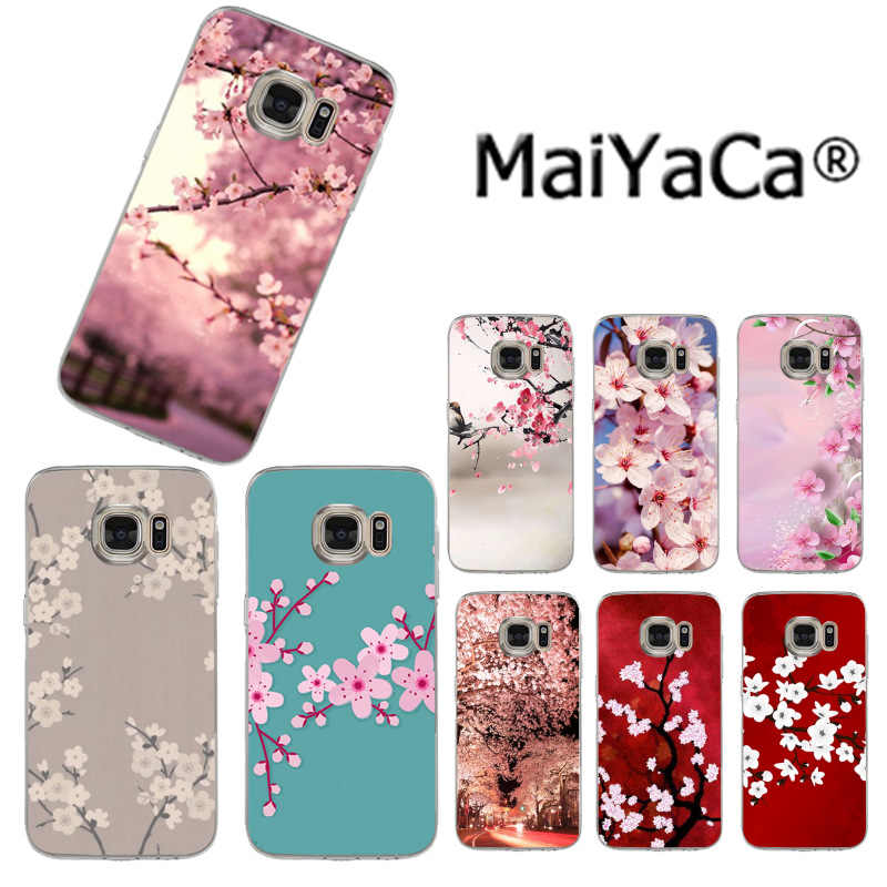 MaiYaCa Japanese style Cherry blossoms on sell phone Case for Samsung S3 S4 S5 S6 S6edge S6plus S7 S7edge S8 S8plus