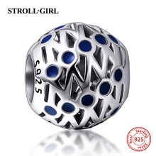 2017 New 925 sterling silver Fit Authentic Pandora Bracelet Antique color Enamel Charms Beads DIY Jewelry Making for women Gifts 2018 new 925 sterling silver red enamel bikini charms beads fit authentic pandora bracelet charms beads jewelry for women gifts
