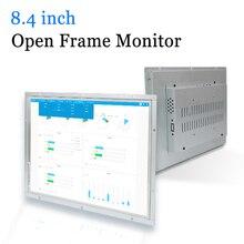 8.4 นิ้วเปลือกโลหะกรอบเปิด LED จอภาพคอมพิวเตอร์ VGA HDMI DVI เอาต์พุต AV