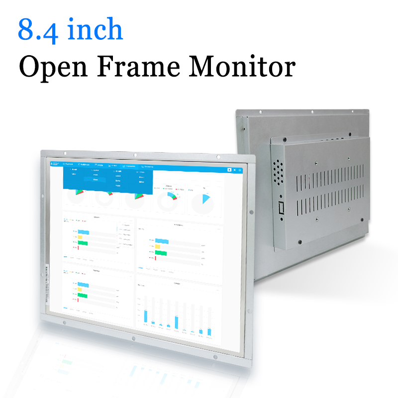 8.4 inch Industrial Metal Shell Open Frame LED Computer Monitor with VGA HDMI DVI AV Output-in LCD Monitors from Computer & Office