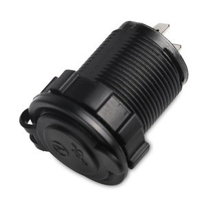 Водонепроницаемое автомобильное зарядное устройство для мотоцикла, 2,1 А, 12 В, 24 В, двойной Usb Автомобильный светодиодный вольтметр, панель, адаптер питания, розетка, кабель с предохранителем