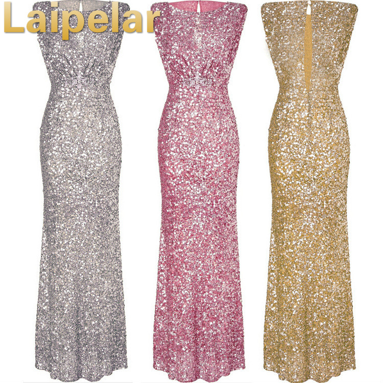 658cbdfd5704f 2018 Sexy Women Gold Sequins Dress Woman Christmas Backless Floor Length  Long Luxury Club Party Dresses Maxi Vestido De Festa XL