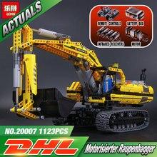 Nueva LEPIN 20007 serie técnica 1123 unids excavadora Modelo Building blocks Ladrillos Compatible Educativos Coche de Juguete de Regalo de Navidad 8043