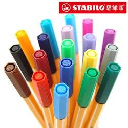 5 pçs/lote Alemanha STABILO fibra de gel colorido conjunto de canetas caneta de fibra caneta Stabilo cisne 88 kawaii artigos de papelaria para material escolar escritório Papelaria
