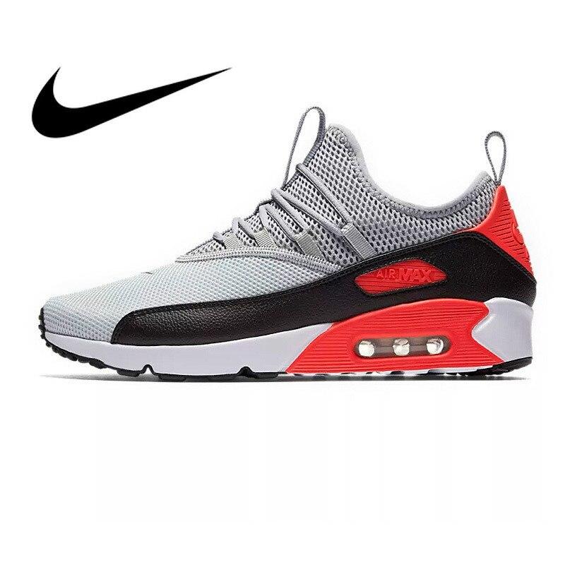 Original Autêntica NIKE AIR MAX 90 EZ Borracha Sapatos de Amortecimento Respirável Esporte de Corrida dos homens de Boa Qualidade Ao Ar Livre SneakersAO1745