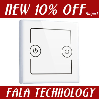 Two gang smart wall switch of wifi home automation remote control switches android ios windows wifi control