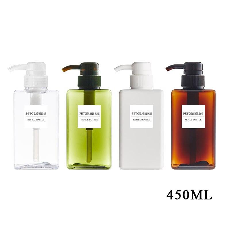 Image 5 - 4 Size Soap Dispenser Cosmetics Emulsion Bottles Bathroom Hand  Sanitizer Shampoo Body Wash Lotion Bottle Empty Travel BottlePortable  Soap Dispensers