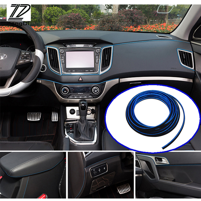 5m Car Interior Stickers Decoration Strip For Opel Hyundai i30 Camry Lexus Honda Jazz Suzuki Swift