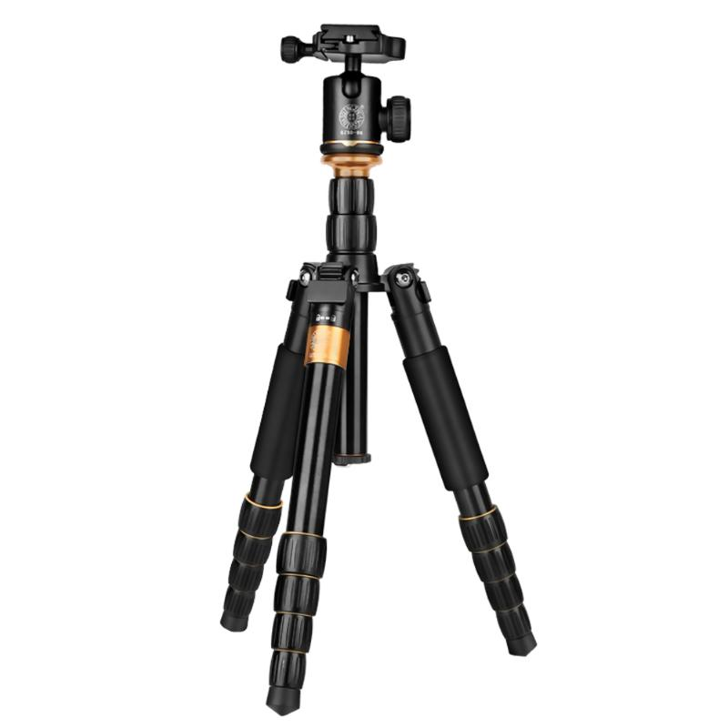 Black Aluminum Portable Professional Photographic Lightweight Tripod Monopod With Ball Head For Camera ashanks a666 aluminum camera tripod with professional video ball head portable for photographic dslr camera 8kg 142cm 55 9