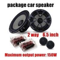 High Qualty Free Shipping 6 5 Inch Car Audio Speaker 2 Way 2X150W Speaker Package Car