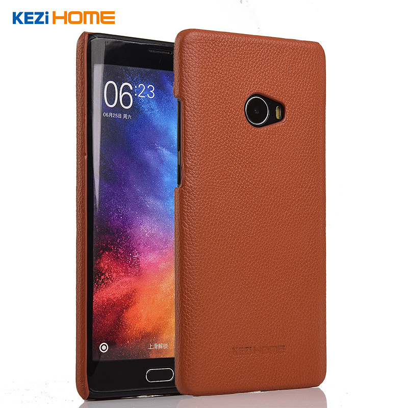 Xiaomi mi note 2 case KEZiHOME Litchi Pattern Genuine Leather Hard Back Cover capa For Xiaomi mi note2 Prime Phone cases coque