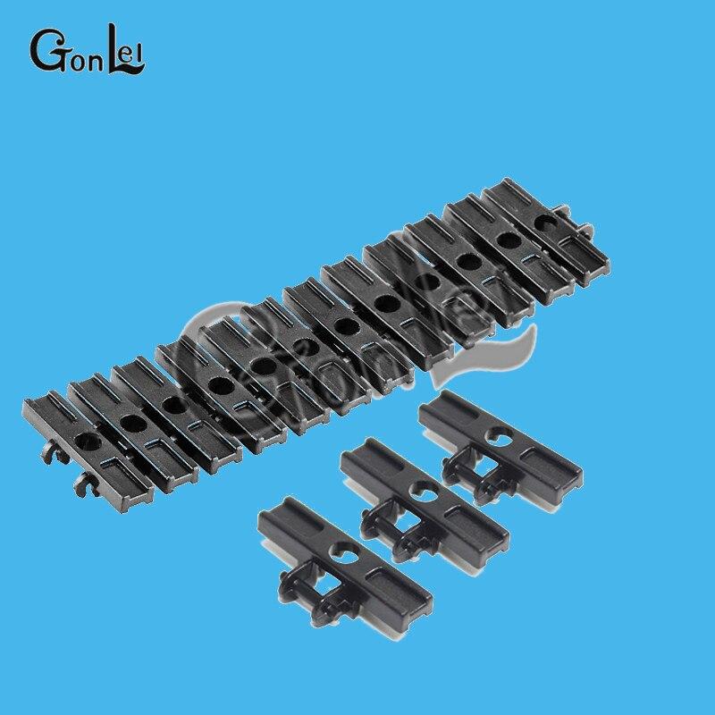 100 Stks/partij Technic Link Loopvlak Met Afgeschuinde Rand Spoor Tank Keten Auto Track Mat Ev3 Ev5 No.1 3873/15379 Technic Bloks Bricks Speelgoed