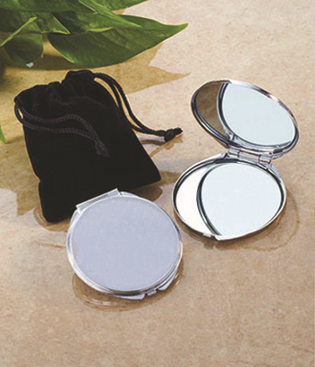 Wholesale 2 4 blank compact mirror round silver metal for Cheap silver mirrors