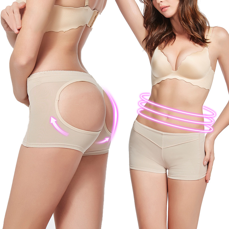 Womens Butt Lifter Shapewear With Tummy Control Padded Panties Hip Enhancer