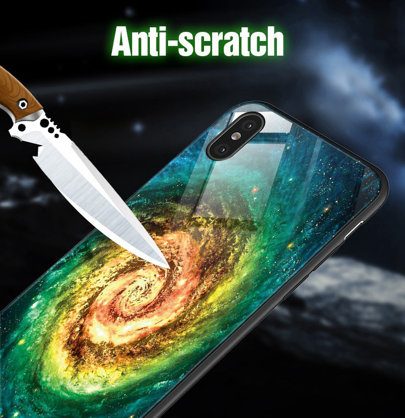 TOMKAS Luminous Starry Luxury Case for iPhone X Xs Max Xr Glass Phone Cover Christmas Silicone Case for iPhone 7 8 6 S 6s Plus (13)
