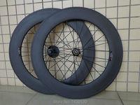 New 700C 88mm clincher rims Road bike matte 3K UD 12K full carbon fibre bicycle wheelset aero spoke 20.5 23 25mm width Free ship