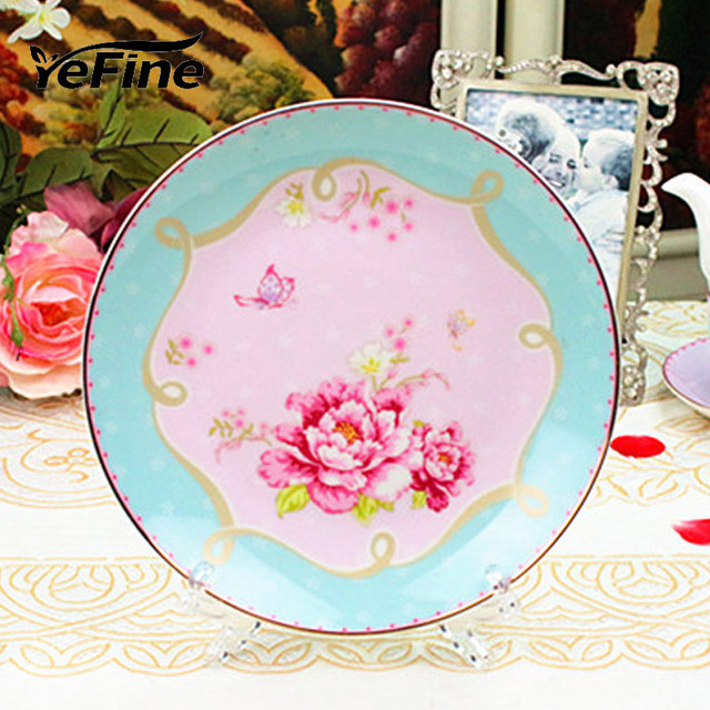 YeFine Porzellan Teller Auf Verglast Dekoration Blumen Hohe Temperatur  Gesundheit Und Sicherheit Keramik Geschirr Für
