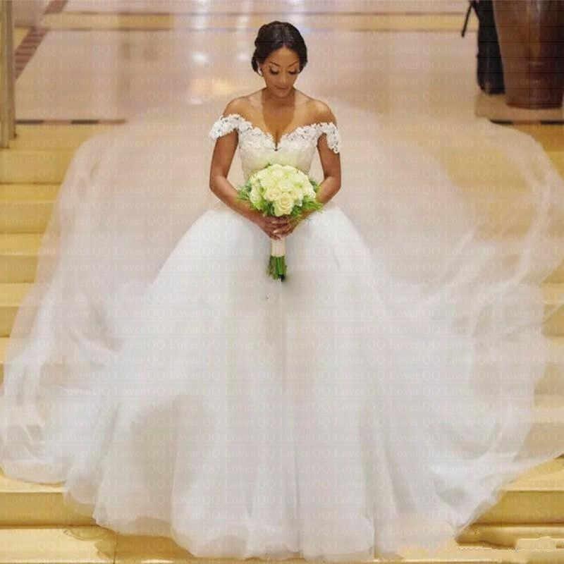 2019 africaine Sexy décolleté robe De marié