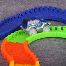 Kids Magic Car Toy Glow in the Dark Tracks Race Track
