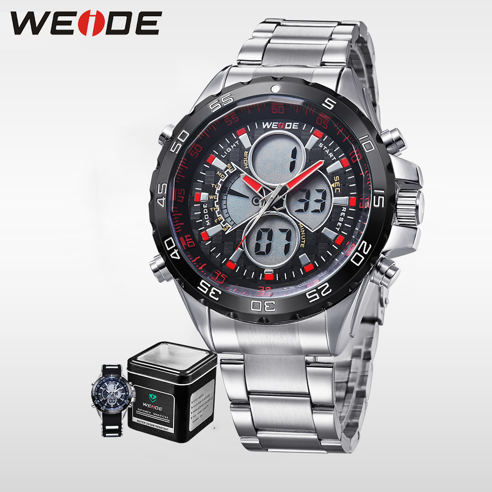 WEIDE luxury Military Army Watches Men Sports Military Army Business Watch Auto Date Complete Calendar  Waterproof Wristwatches weide multiple time zone quartz casual watch military sports watch waterproof back light men watches alarm business men watches