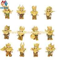 One Set Wholesales Plastic Toys Anime Figure Saint Seiya Building Block Twelve Constellations Modles For Kid Toy PG8212 PG8213