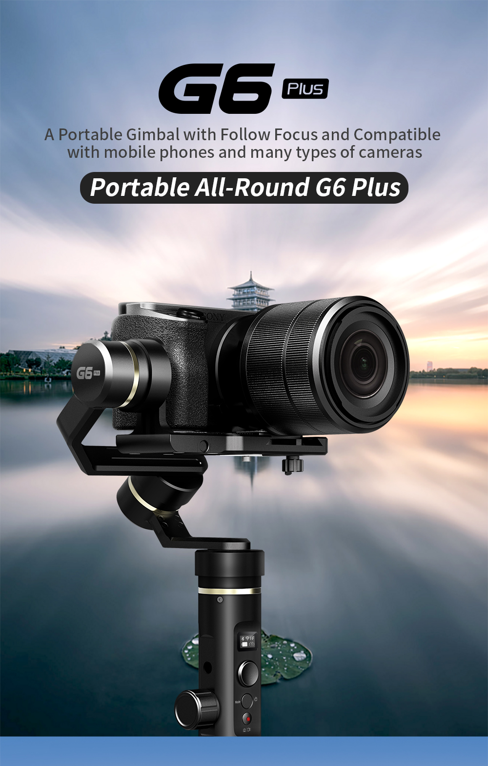 FeiyuTech G6 Plus 3-Axis Handheld Gimbal Stabilizer for Mirrorless Camera Pocket Camera GoPro Smartphone Payload 800g Feiyu G6P 1