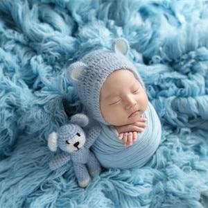 Image 2 - ライトピンクギリシャウール Flokati Natural Chunky カーリーウール毛布新生児ポーズ背景生地ヴィンテージ女の赤ちゃんの毛皮小道具