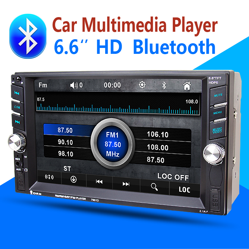 2din Car Multimedia Player Bluetooth Stereo Radio FM MP3 MP5 font b Audio b font VideoUSB