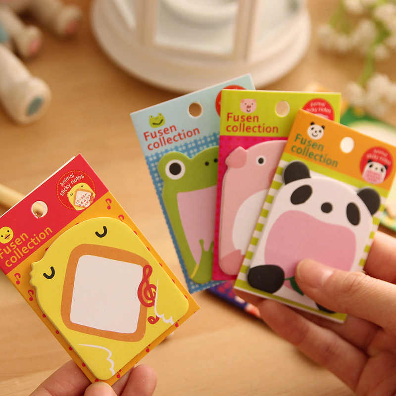 Creative Cute Cat Rabbit Memo Pads Sticky Paper Kawai Post Notes For Kids Gift Korean Stationery Office School Supplies