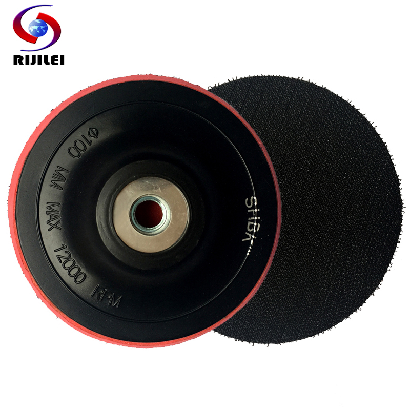(4HFR) M10 100mm 4inch Rubber Backer of Polishing Pad flexible Rubber backer holder pad for Angle grinder,granite polishing tool  цены