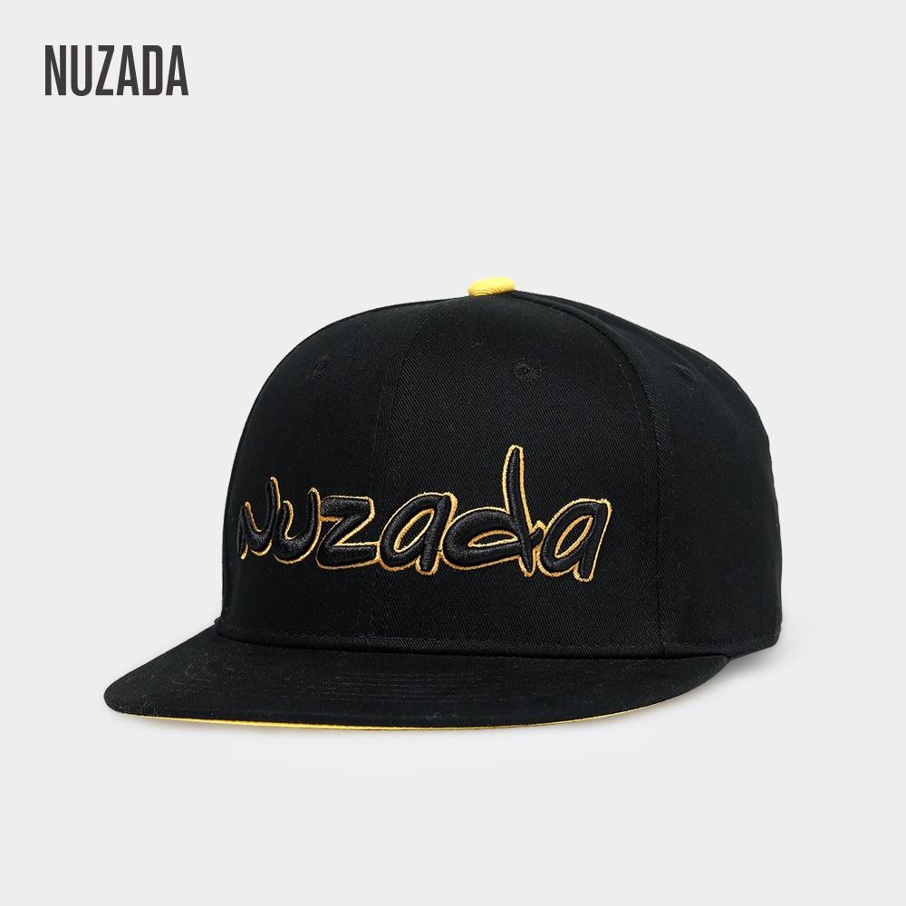 NUZADA Three Dimensional Embroidery Men Women Hip Hop Cap High Quality Iinternal Double Layer Spring Summer Couple Caps Cotton