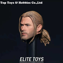 1/6 Scale male head 1/6 The Avengers Thor Braid Head Sculpt Model  PVC Head Model Toys Fit 12 Action Figure Body mnotht black male soldier head carvings model wild curl up 1 6 scale smile kobe head sculpt toys for 12in action figures m3