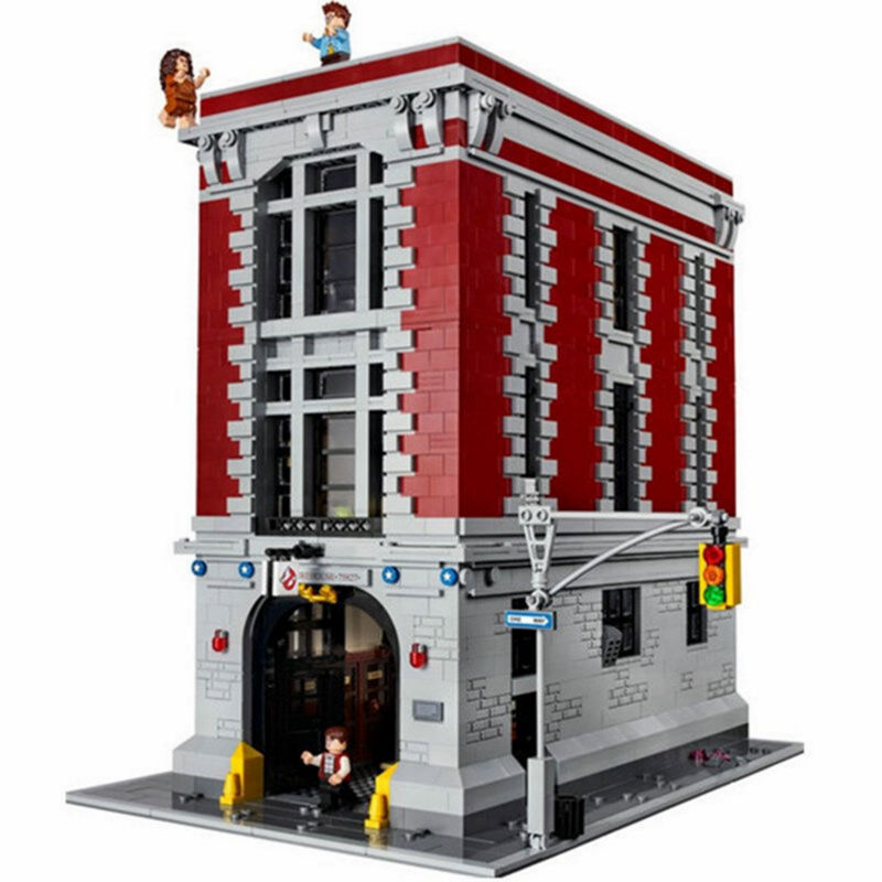 Lepin 16001 4695Pcs Ghostbusters Firehouse Headquarters Model Building Kits Model set Toys For Children Compatible With 75827 4695pcs lepin 16001 city series firehouse headquarters house model building blocks compatible 75827 architecture toy to children