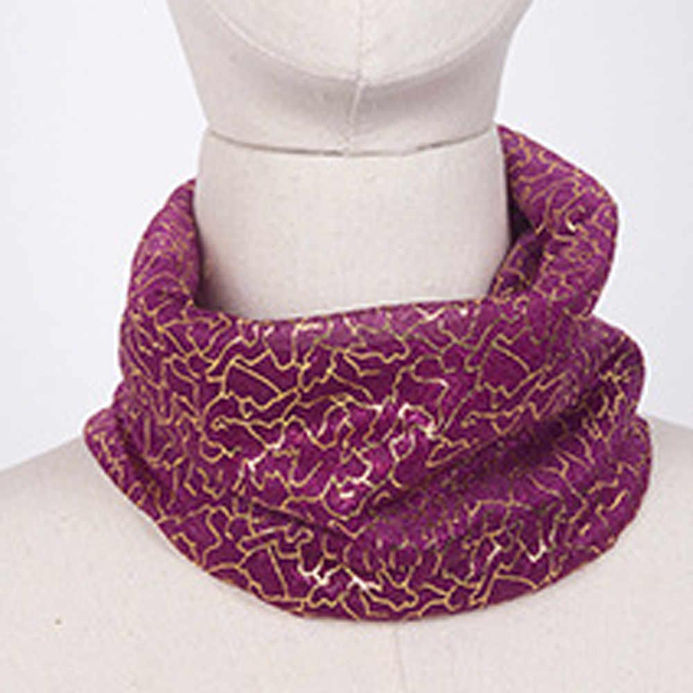 Bufanda de mujer de alta calidad al aire libre protector solar de gasa gradiente capucha cuello bufanda chal anillo invierno 2018 luxo cálido