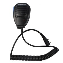 Walkie Talkie 2PIN PTT Button Speaker Microphone for Kenwood/Baofeng UV-5R BF-888S/Retevis H777 RT-5R/TYT Two Way Radio J6543