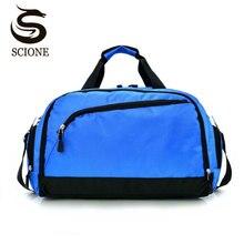 Купить с кэшбэком Scione Men Waterproof Travel Bags Sport Suitcase Women Fashion Luggage Handbags Large Casual Outdoor Shoulder Bag Shoe Storage
