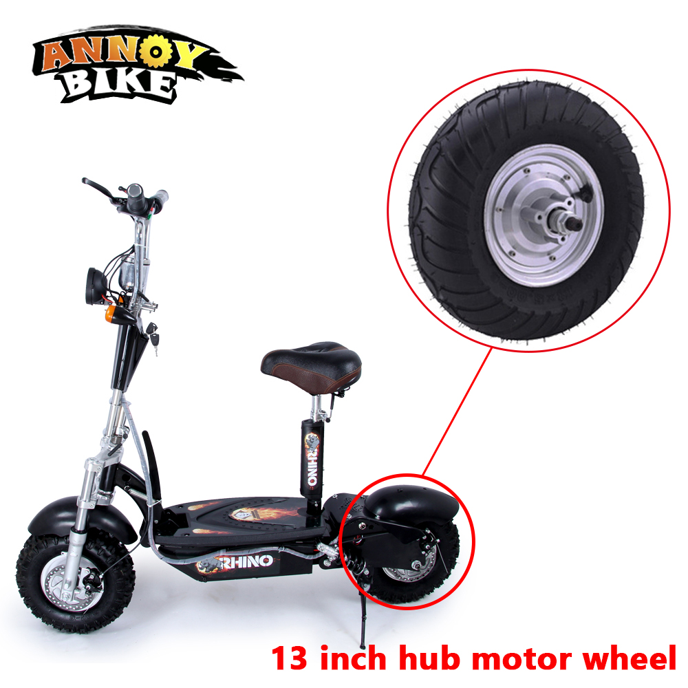 E-Scooter Motor Wheel13'' Hub Motor 13 inch 48v 350w 500w 800W Electric Toothless BLDC Gear-less Motor Bike Engine DIY economic multifunction 60v 500w three wheel electric scooter handicapped e scooter with powerful motor