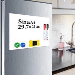 YIBAI магнитная доска для записей A4 мягкая магнитная доска, сухая стираемая доска для рисования и записи холодильника с бесплатным подарком