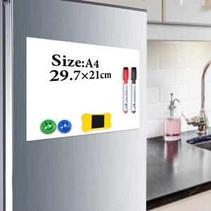 YIBAI المغناطيس السبورة A4 لينة سبورة مغناطيسية ، الجاف محو الرسم و تسجيل مجلس للثلاجة الثلاجة مع هدية مجانية
