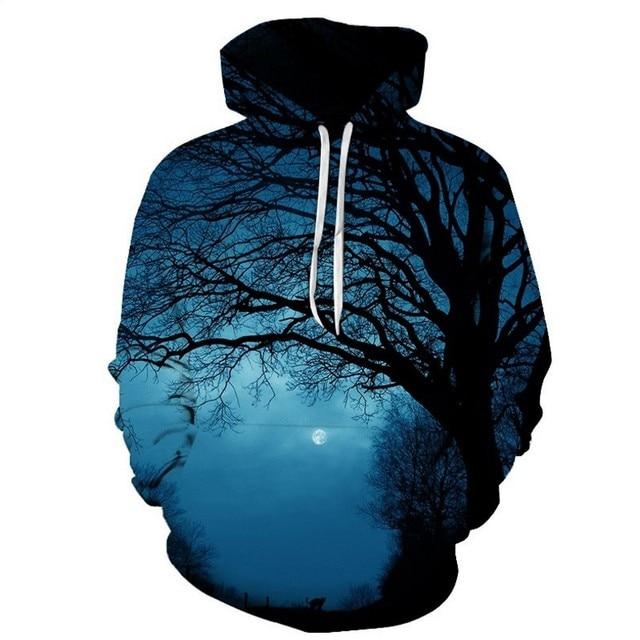 FILLMANNS Space Universe planet Hoodies Hooded Men/Women Hat 3d Sweatshirts Print Colorful Nebula Thin Autumn Sweatshirts  5