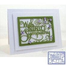 Deepest Sympathy DIY Craft Die Handmade Decoration Paper Card Album Photo Making Scrapbooking Template Embossing Stencil