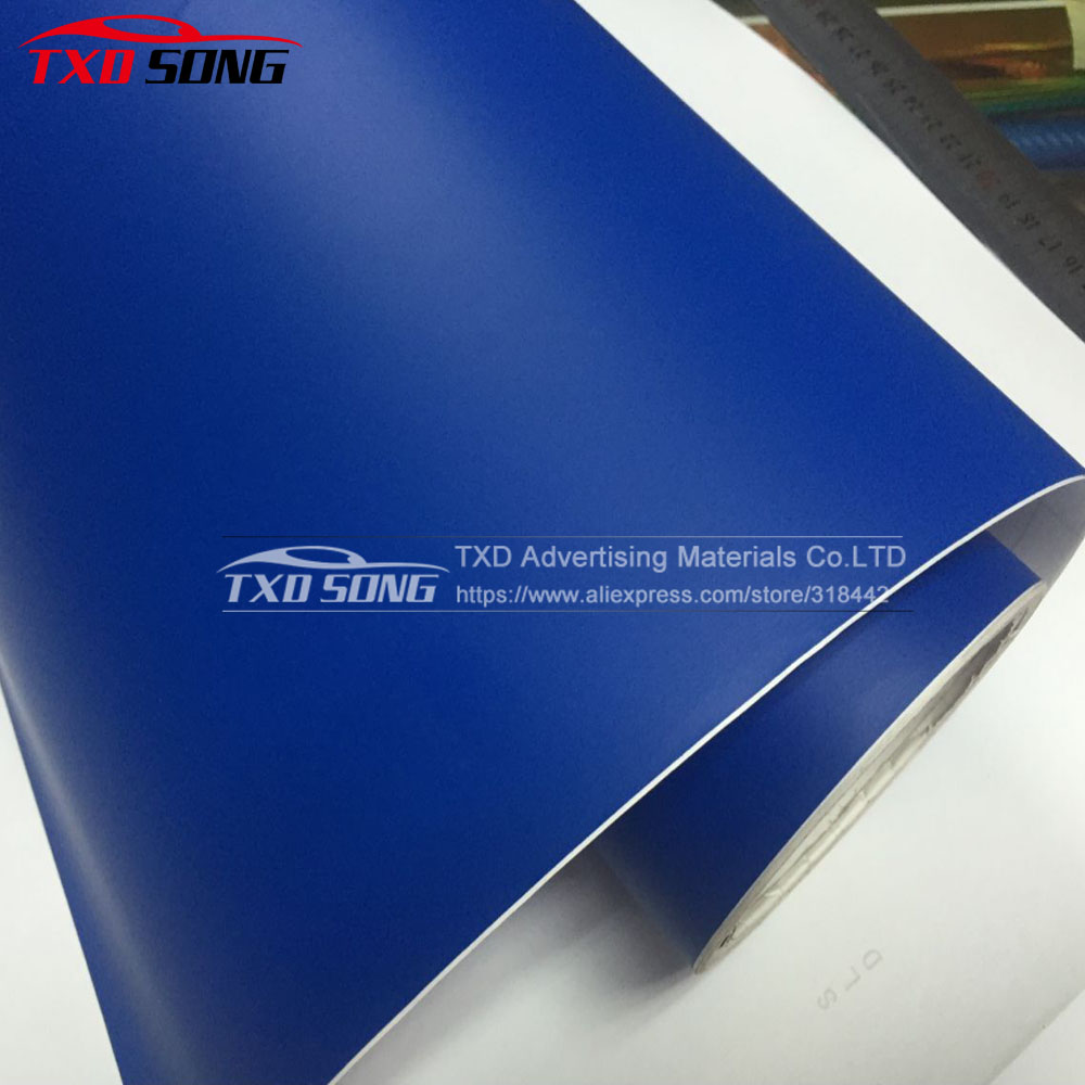 10/20/30/40/50/60X152CM/Lot Matt Dark Blue Vinyl Sticker For Car Wrapping Matt Vinyl Wrap Film For Car Decoration Matt Car Film