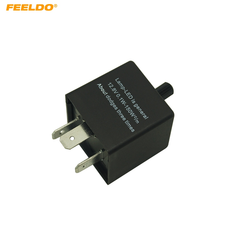 FEELDO CF13 KT Car Adjustable Frequency Flasher Car Motorcycle LED Lights Flasher Relay #FD-5357