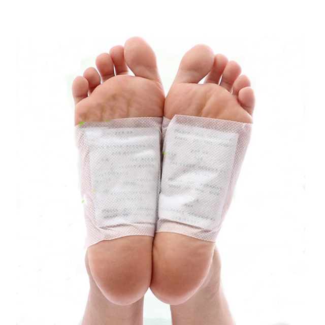 50pcslot Gold Kinoki Detox Foot Pads Patch Massage Relaxation