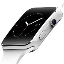 Bluetooth Montre Smart Watch X6 + Écran Incurvé Smartwatch avec Alarme Horloge Caméra Soutien SIM TF Carte Facebook Twitter Relogios Smart
