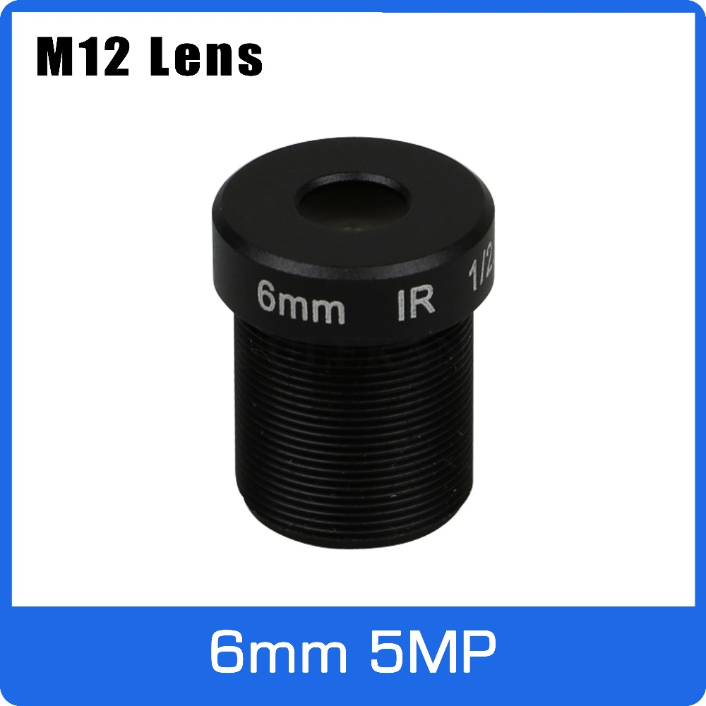 5Megapixel M12 Fixed 1/2.5 inch 6mm CCTV Lens For HD 1080P/4MP/5MP AHD Camera IP Camera Free Shipping new cctv lens 1 2 5 inch 6 22mm 5mp m12 mount varifocal lens f1 6 for 4mp 5mp cmos ccd sensor security ip ahd camera