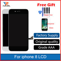 Original OEM Black White For iphone 8 LCD Display Screen With Touch Screen Digitizer Assembly Phone Replacement No Dead Pixel